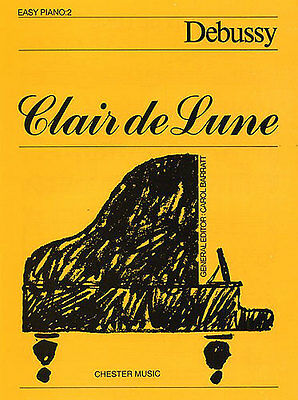 Clair de Lune Easy Piano No.2 Learn to Play Beginner Music Book
