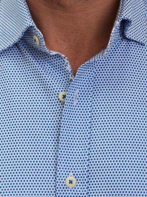 NWT ROBERT GRAHAM XL  MEN'S BRODIE LONG SLEEVE WOVEN SHIRT  BLUE - Long Sleeve Woven Shirt