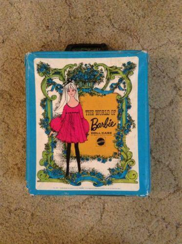 Vintage 1963 Barbie Carrying Case SPP Mattel Yellow Flair Coat 60