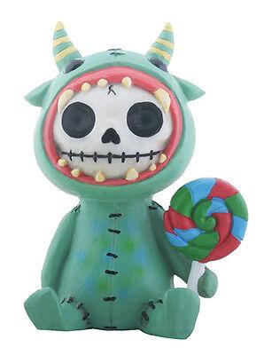 Furry Bones MOGU the Green Monster Figurine, Skeleton in Costume, NIB