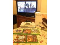 xbox one s 500gb brilliant condition, two controllers, 5 games, GTA V, MINECRAFT, would swap for ps4