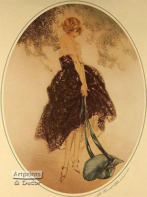 Le Bonnet Blue by Louis Icart (: Art Print of Vintage Art :)