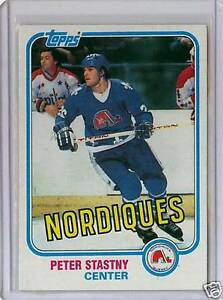 PETER STASTNY .... 1980-81 TOPPS ROOKIE CARD .... hockey cards