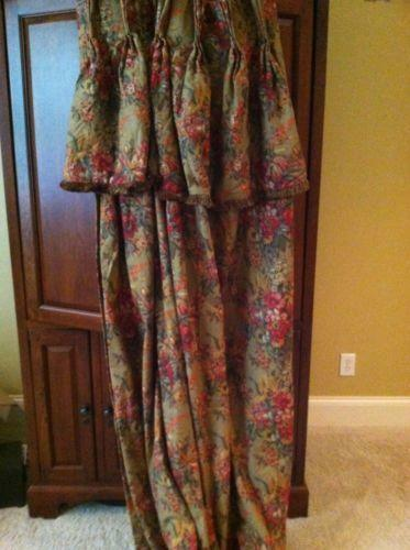 Floral Lined Curtains Ebay