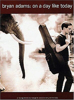 Bryan adams on a day like today piano vocal guitar  music book