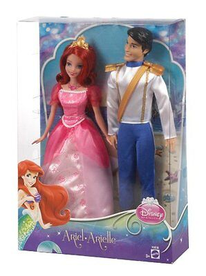 "Mattel Disney Princess ERIC & ARIEL Twin/2 10"" Dolls The Little Mermaid set NEW"