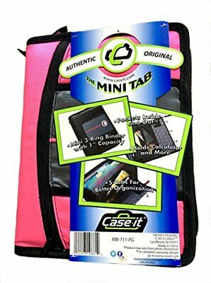 Case-it Mb-711-fg Durable Mini 1-inch Zipper Binder With Tabs