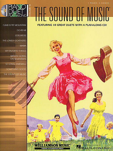 Piano Duet Play-Along The Sound Of Music Learn to Play Music Book & CD FILM SONG