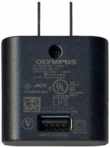 Olympus F-2AC Lithium Ion Battery Charger Camera USB port 5V