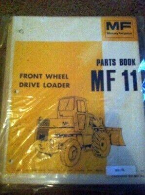 Massey Ferguson 11 Front Wheel Drive Loader Original Parts Manual Catalog