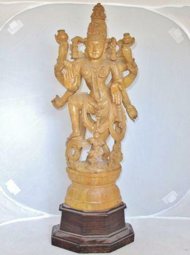 Carved indian statue ebay