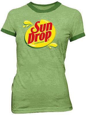Juniors Sun Drop It Hot Sundrop Citrus Soda Green Commercial Costume T-Shirt Tee - Commercial Costumes