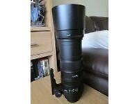 Sigma DG (Canon Fit) 150-500mm Zoom Lens