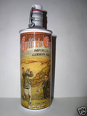 """9"""" High Golfer's Choice Limited Edition #1 Aluminum Empty  Beer bottle Germany"""