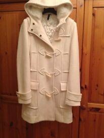 Topshop Winter White Duffle Coat – Small