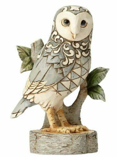 Jim Shore HEARTWOOD CREEK White Woodland Owl WISDOM BEGINS WITH WONDER 4056970