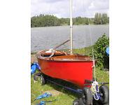 GP 14 sailing dinghy