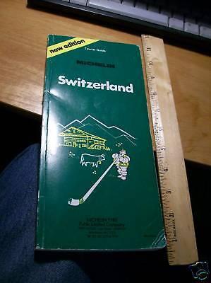Vintage Book : Michelin Green Guide to Switzerland (1982)