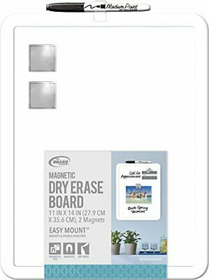 Board Dudes 11 X 14 Plastic Framed Magnetic Dry Erase Board Includes 1 Mark...