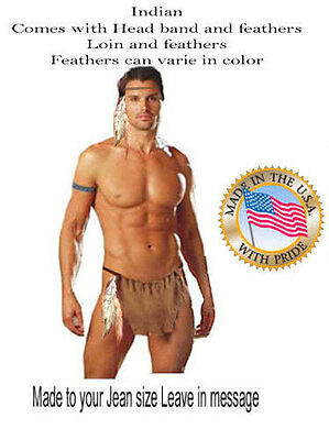 Costume Warrior (Indian Loin costume Warrior cloth sexy  Costume Made to your Jean size)