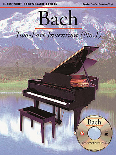 Bach Two-Part Invention No. 1 Learn to Play Concert Piano Music Book & CD