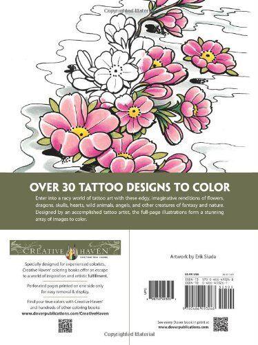 Modern Tattoo Designs Adult Colouring Book Creative Art