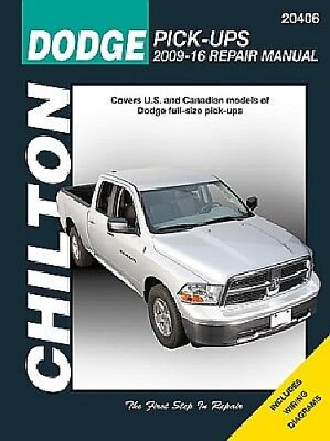 2009-2018 Dodge RAM 1500 4x4 2x4 Truck Chiltons Repair Service Shop Manual 20406