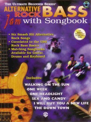 THE ULTIMATE BEGINNER SERIES-ALTERNATIVE ROCK BASS JAM WITH SONGBOOK/CD-NEW-RARE (Ultimate Beginner Series Rock Bass)