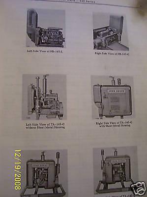 John Deere Parts Manual- Power Units 145 Series-vintage