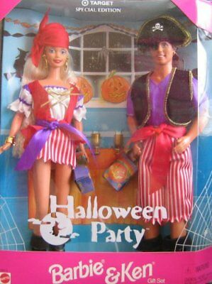 Target Special Edition Halloween Party Barbie and Ken Giftset dolls 1998 Nice    (Halloween Barbie And Ken)