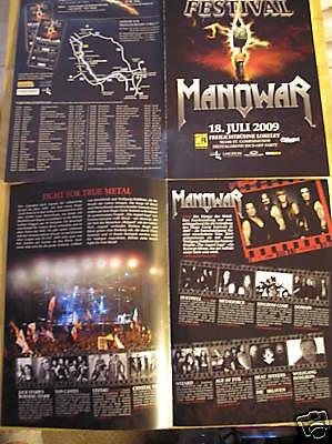 MUSIC FLYER - MANOWAR - LORELEY GERMANY JULY 2009
