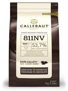 Callebaut Dark Chocolate Chips 1kg 54% cocoa, for baking, cooking, fountains