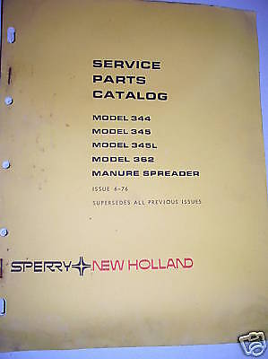 New Holland Parts Manual 344-362 Manure Spreaders-vintage