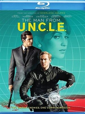 The Man From Uncle New Sealed Blu Ray Henry Cavill Armie Hammer