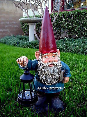 GARDEN STATUE GNOME, GNOME WITH SOLAR LIGHT , GNOME FIGURINE