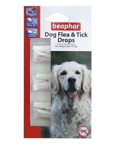 Beaphar Large Dog Flea And Tick Drops 12 Weeks 3 Treatments Dogs Over 15kg