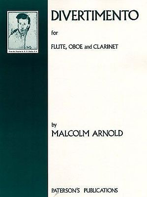 QT25 Divertimento; Sir Malcolm Arnold Queen/'s Temple Publicati CLARINET DUET