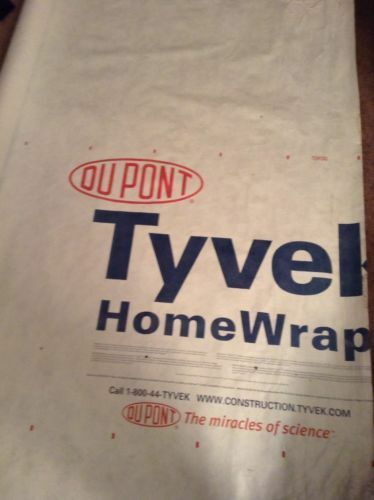 5ft X 9ft DuPont Tyvek Homewrap for Ground Sheet  Tarp Tent Footprint w// 4 LOOPS