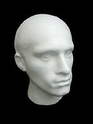 Männlich Weiß Polystyrene Mannequin Perücke Hut Mode Ausstellungskopf Ladenbau Weiße Perücke Männlich