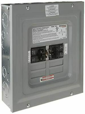 Generac 6333 60-amp Single Load Double Pole Manual Transfer Switch For Portable
