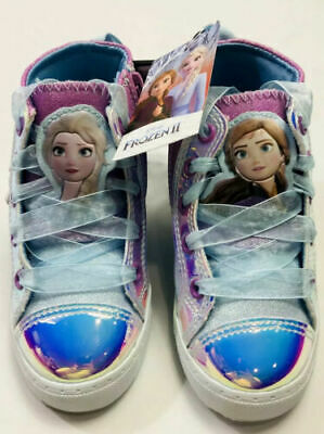 New Disney's Frozen 2 Anna & Elsa High Top Shoes Sneakers Size Toddler Girls