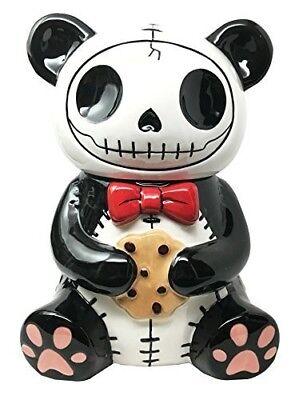 Skull Cookie Jar (Furry Bones Pandie Ceramic Cookie Jar Collectible Kitchen Hosting Dining)