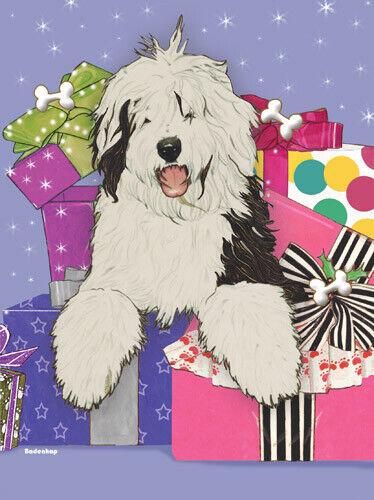 Old English Sheepdog Christmas Cards Set of 10 cards & 10 envelopes