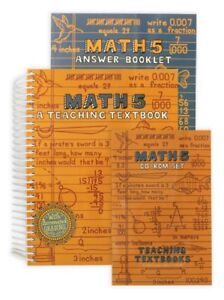 Teaching Textbooks Math 5 new and sealed