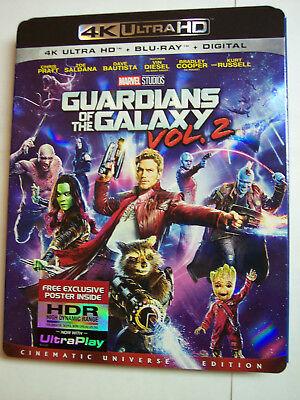 Guardians Of The Galaxy Vol  2 W Slipcover  4K Ultra Hd   Blu Ray   Digital Hd