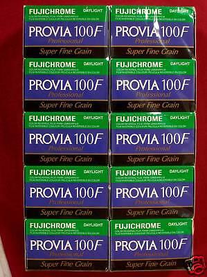 FUJIFILM  PROVIA  100 F  135/36  10 Filme Neueste Ware!  MHD/expiry date 06/2020