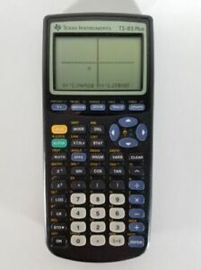 Texas Instruments TI-83 Plus Graphing Calculator /w Cover