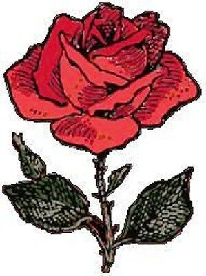30 Custom Red Rose Personalized Address Labels