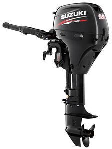 9 9hp suzuki 4 stroke lightweight outboard motor 20 long for Long shaft trolling motor for sale
