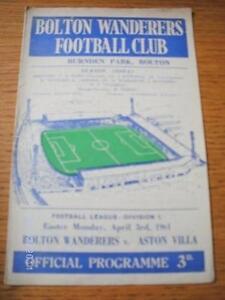 03-04-1961-Bolton-Wanderers-v-Aston-Villa-Creased-Folded-No-obvious-faults